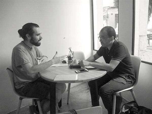 Andros Fenollosa y Javier Archeni en el podcast